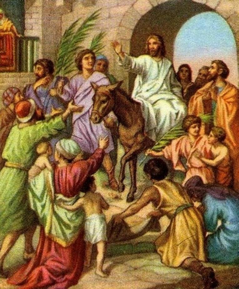 JESUS ON DONKEY - 700 WIKIPED.