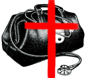 MEDICAL BAG - with cross